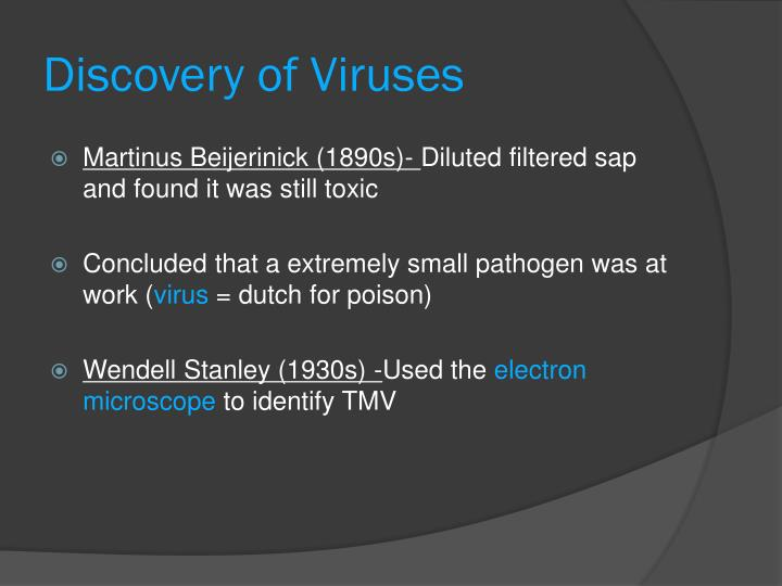 Discovery of Viruses