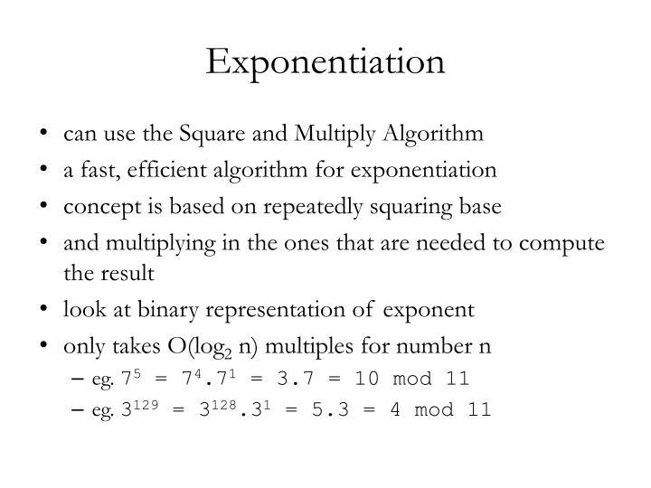 Exponentiation