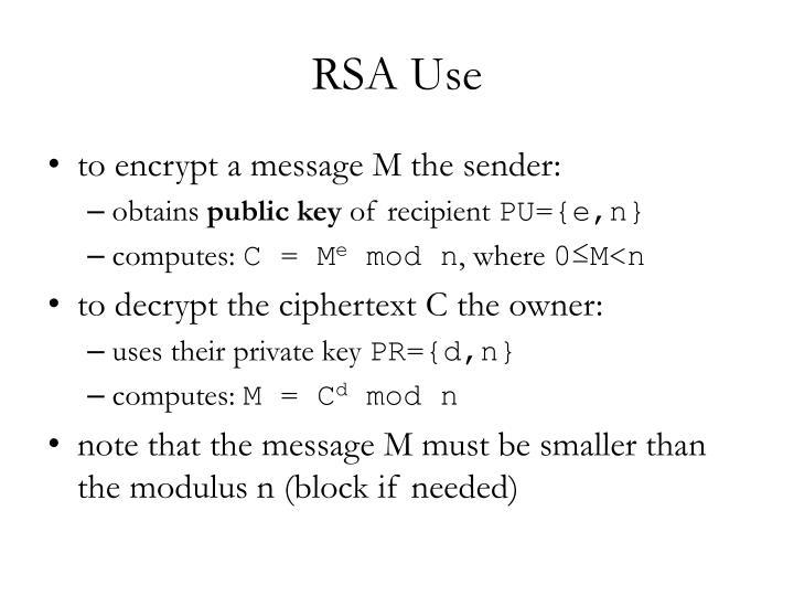RSA Use
