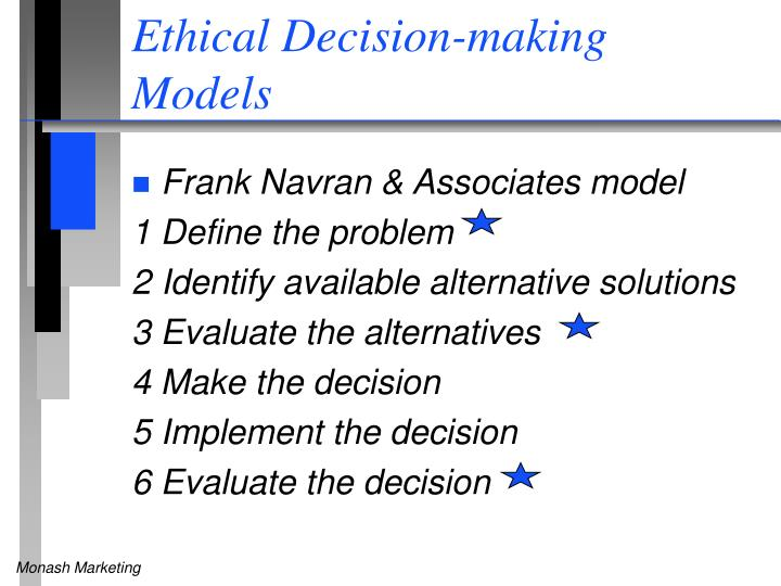 ethical desicion making Practitioner's guide to ethical decision making | 2 american counseling association the center for counseling practice, policy, and research.