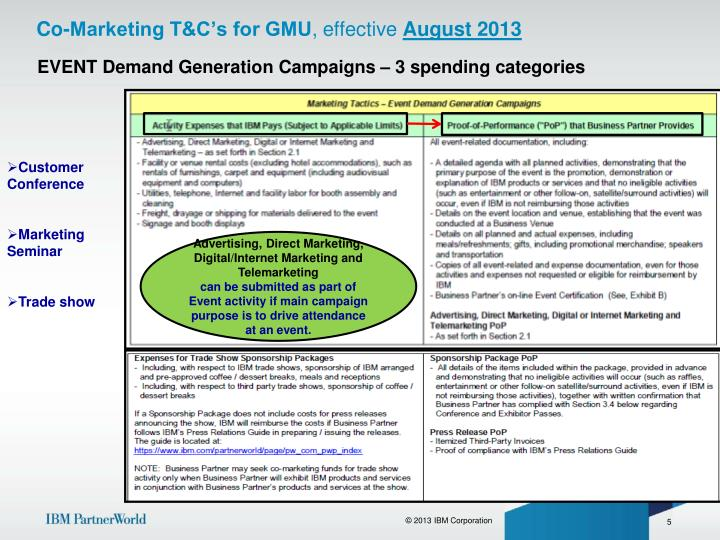 Co-Marketing T&C's for GMU
