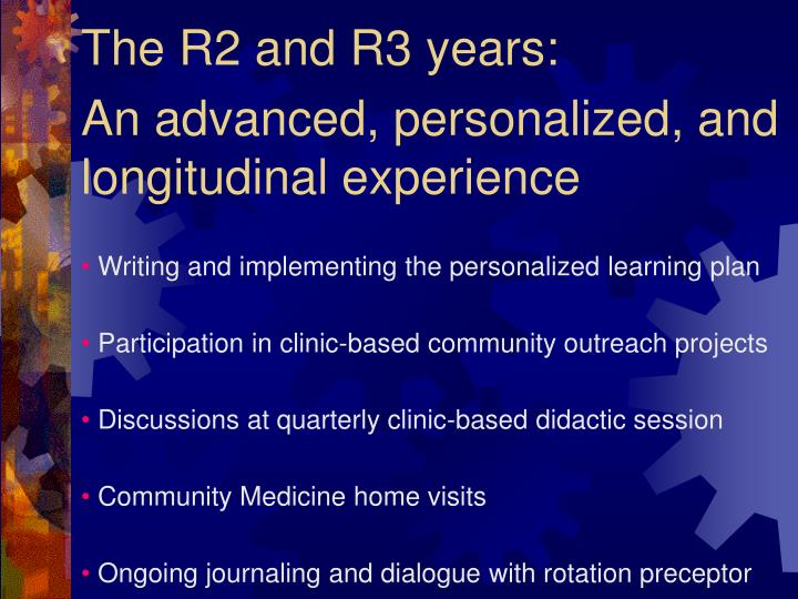 The R2 and R3 years: