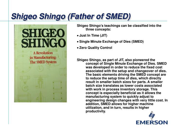 Shigeo Shingo (Father of SMED)