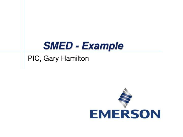 SMED - Example