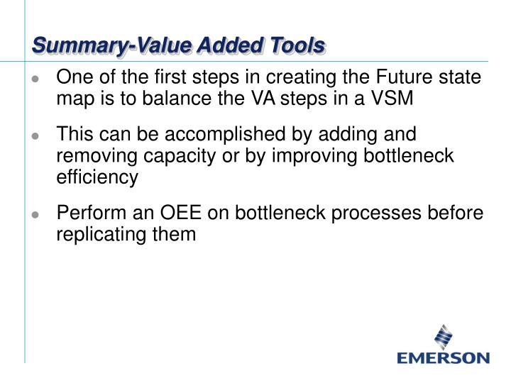 Summary-Value Added Tools