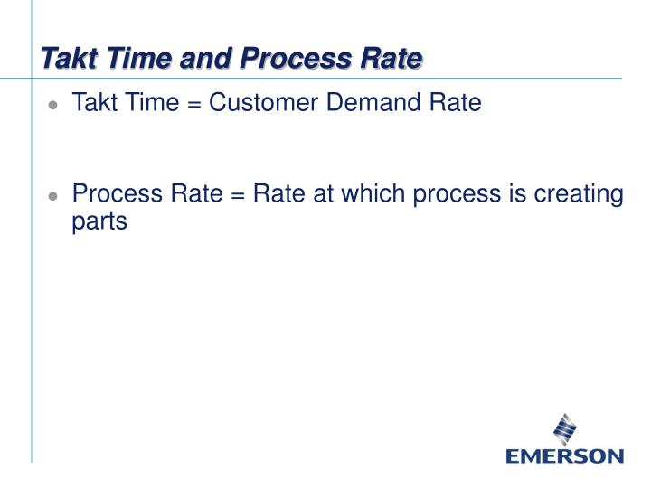 Takt Time and Process Rate