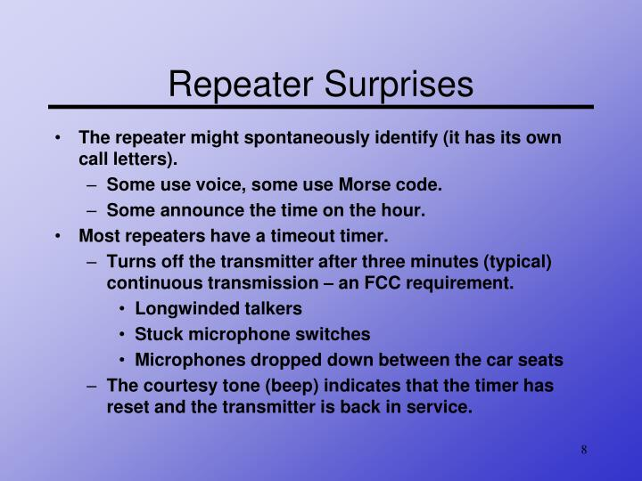 Repeater Surprises