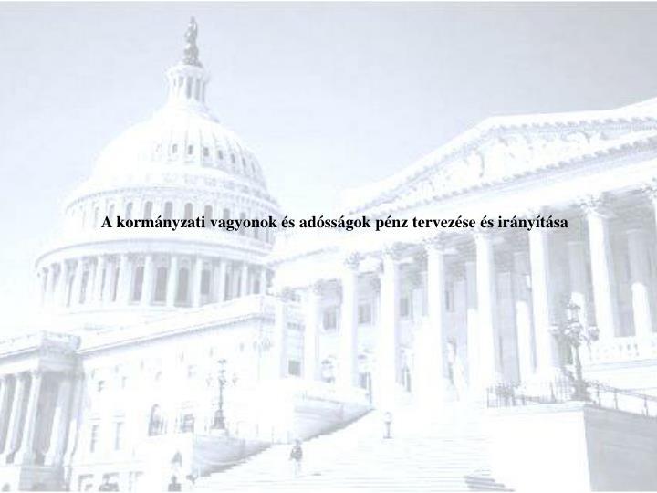A kormányzati vagyonok és adósságok pénz tervezése és irányítása