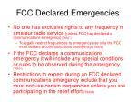 fcc declared emergencies