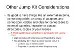 other jump kit considerations