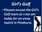 girl s golf