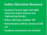 indian education resource