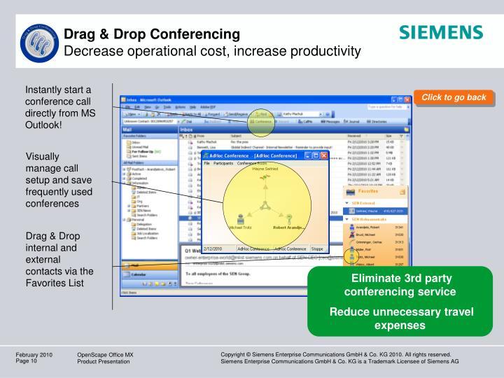 Drag & Drop Conferencing