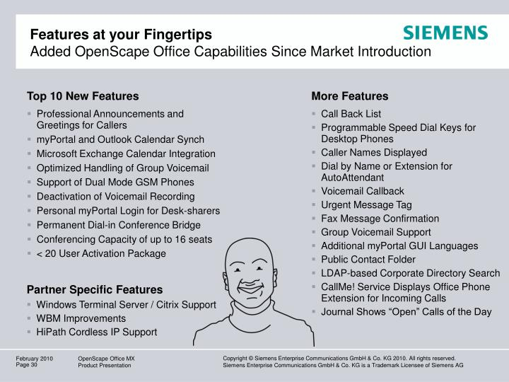 Features at your Fingertips