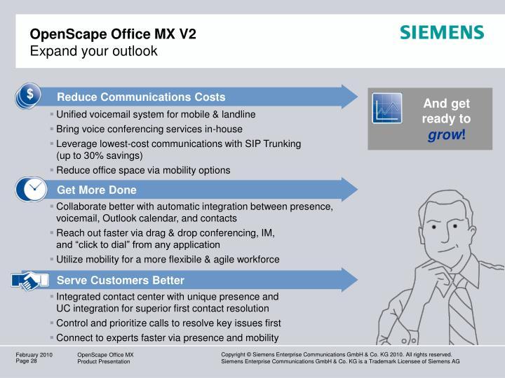 OpenScape Office MX V2