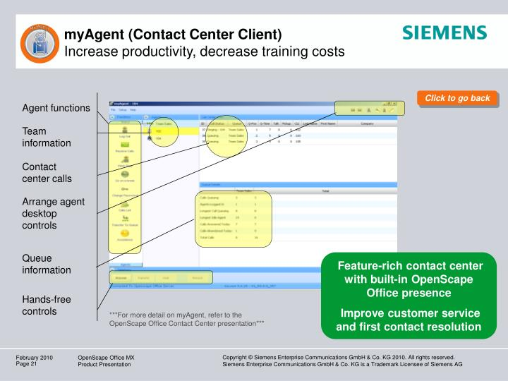 myAgent (Contact Center Client)