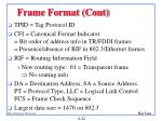 frame format cont