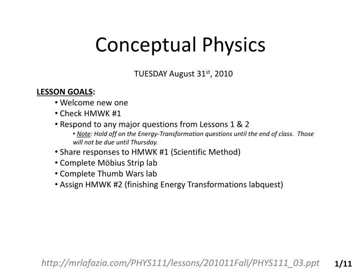 PPT Conceptual Physics PowerPoint Presentation ID 3611961