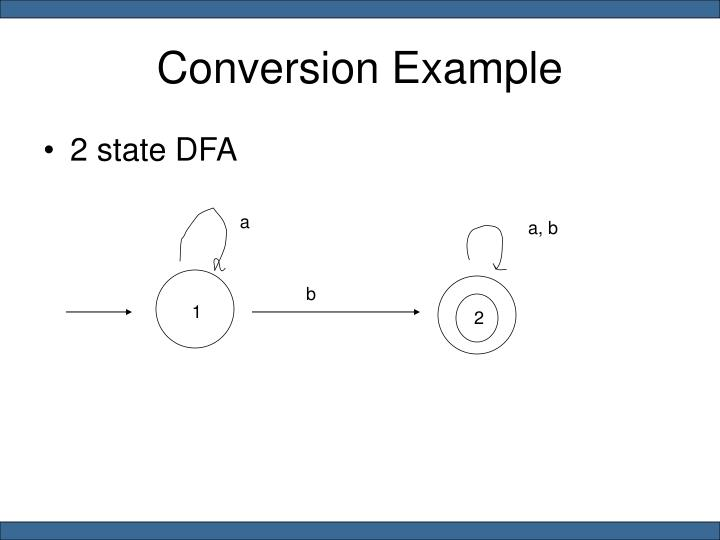 Conversion Example