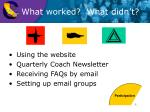 using the website quarterly coach newsletter receiving faqs by email setting up email groups