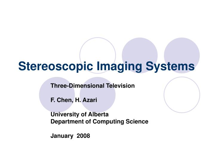 stereoscopic imaging systems n.
