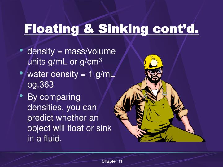 Floating & Sinking cont'd.