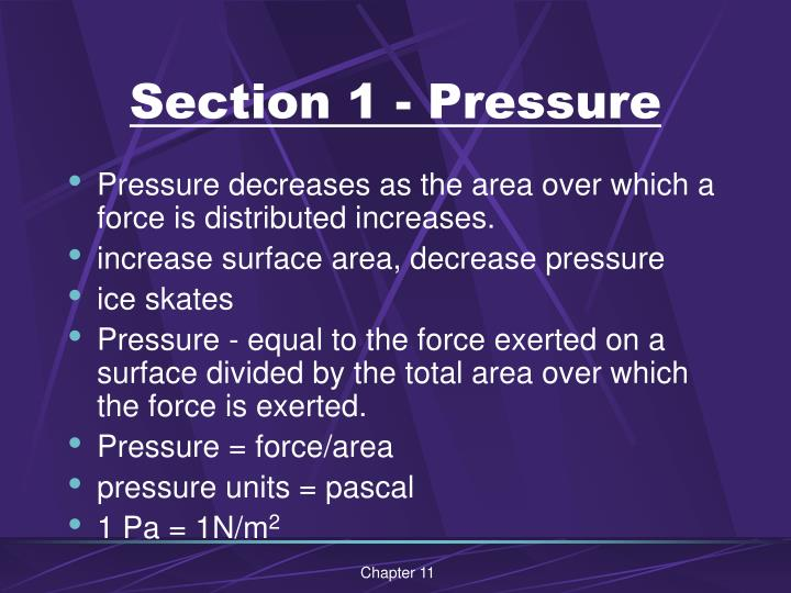 Section 1 pressure