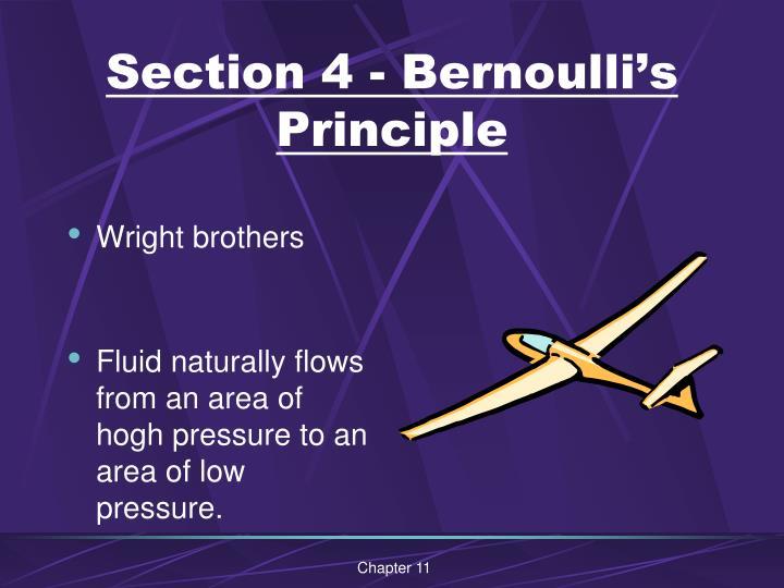 Section 4 - Bernoulli's Principle