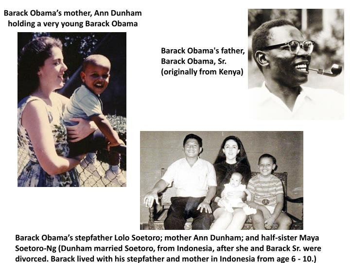 Barack Obama's mother, Ann Dunham holding a very young Barack Obama
