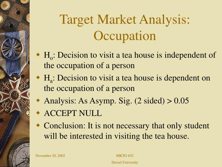Target Market Analysis: Occupation