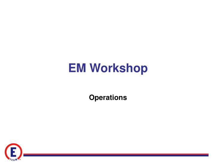 EM Workshop
