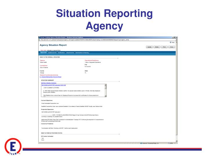 Situation Reporting