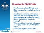 choosing the right photo