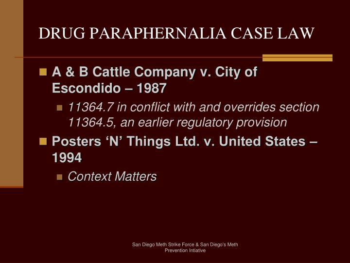 DRUG PARAPHERNALIA CASE LAW