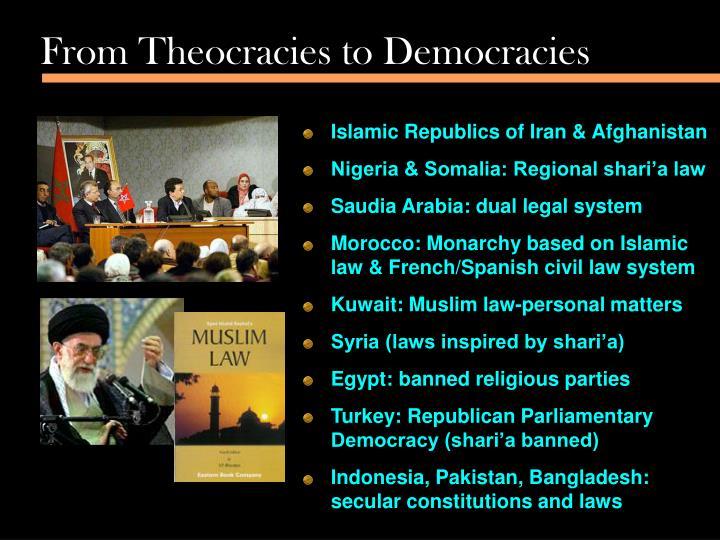 From Theocracies to Democracies