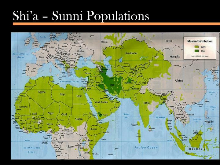 Shi'a – Sunni Populations