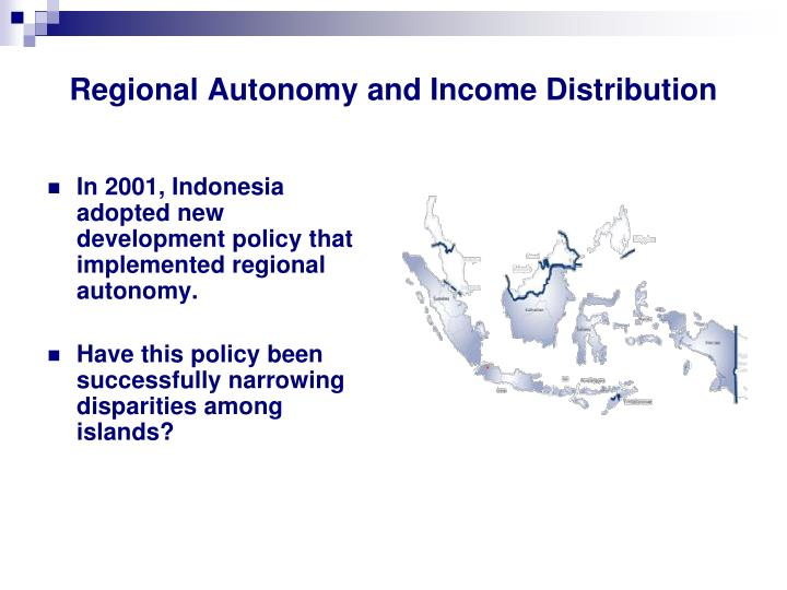Regional Autonomy and Income Distribution