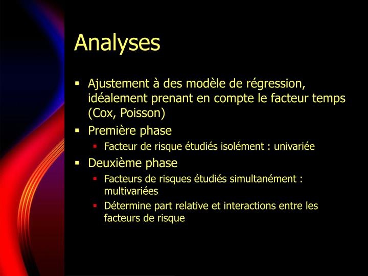 Analyses