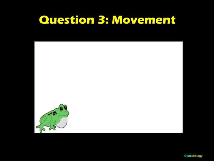 Question 3: Movement