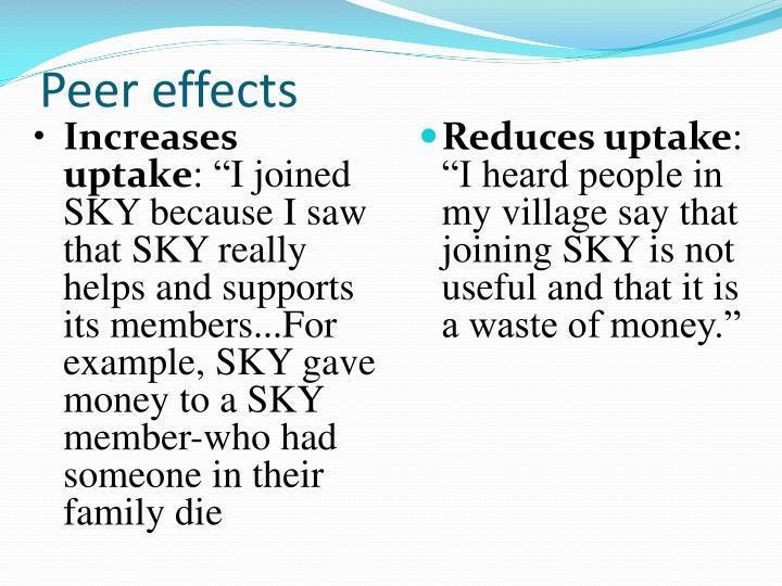 Peer effects