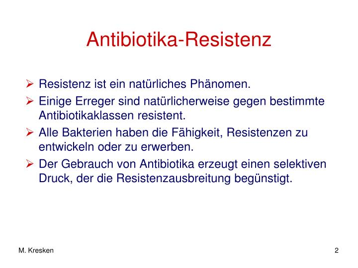 Antibiotika resistenz