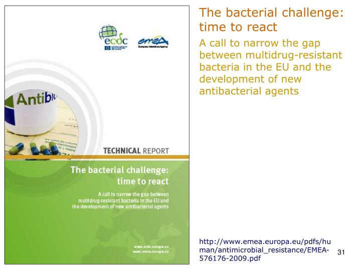 The bacterial challenge: