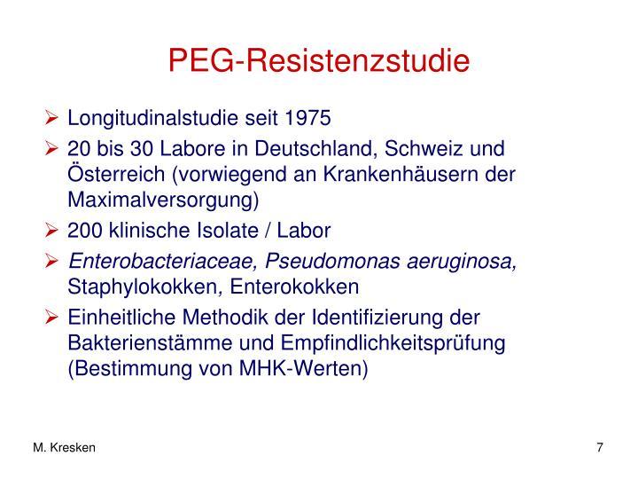 PEG-Resistenzstudie