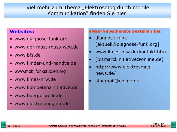 eMail-Newsdienste bestellen bei: