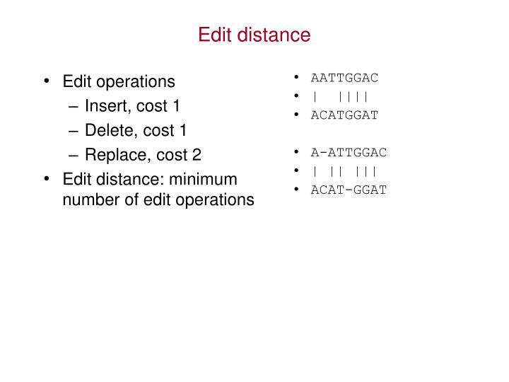 Edit operations