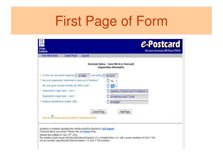 Ppt Welcome To Irs Amp E 990 Filing Were Here To Help You
