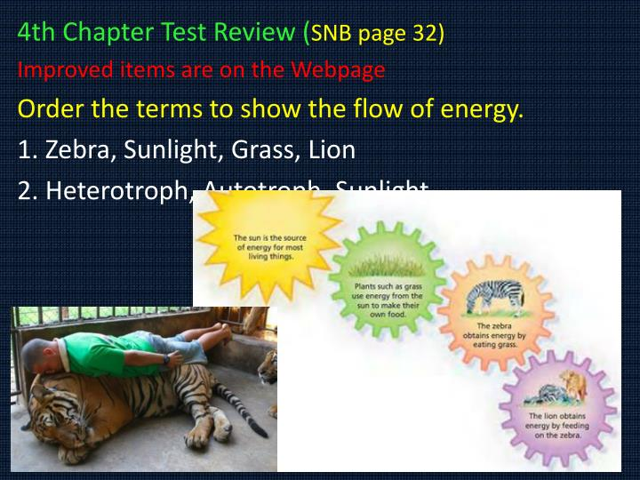 4th Chapter Test Review (