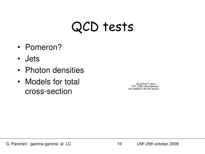 QCD tests