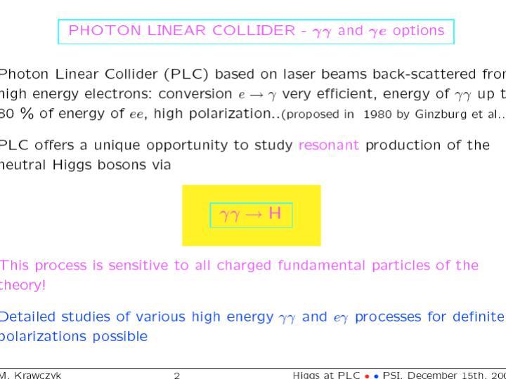 G. Pancheri - gamma gamma  at  LC