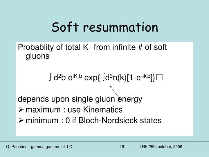 Soft resummation